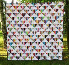 Scrappy Quilt Patterns, Patchwork Quilting, Scrappy Quilts, Quilt Blocks, Modern Quilting, Block Patterns, Patch Quilt, Pattern Ideas, Free Pattern