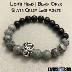 Bracelets. Beaded Yoga. Lion. Handmade Bracelets. Law of Attraction #LOA | Charm Mala I Meditation & Mantra I Spiritual.