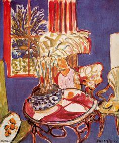 """""""Petit intérieur bleu Huile sur Toile Stuttgart, Staatsgalerie"""" por Henri Matisse (1869-1954, France)"""