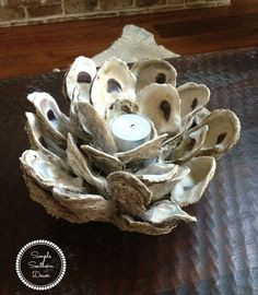 If you love beach projects your will love to make this Oyster Shell Candle Holder Diy. You will need  several dozen of cleaned oyster shells.Try to set aside oy…