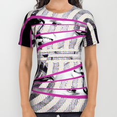 Norma Jean All Over Print Shirt by Hogan | Society6. #hollywood #legends #blackandwhite #dots #pinkstripe #instalikes #movies #filmstars #actors #marilyn #marilynmonroe #homage #normajean #somelikeithot #instahollywood #pinteresting