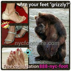#Grizzly feet? Call #NYC #FOOTCARE 888-nyc-foot / nycfootcare.com / 212.385.2400 #nycfootcare #bunion #nypodiatrist #hammertoes #bunions #nj #feet #footcare #bunion #hammertoe #podiatry #podiatrist #foot #footpain #downtown #cosmeticfootsurgery...