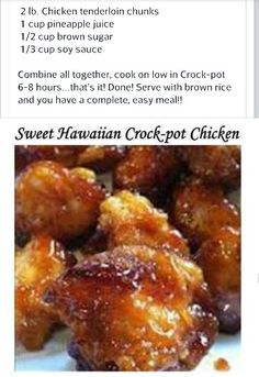 Sweet Hawaiian Crock Pot Chicken