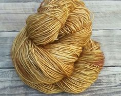 Wheat - Hand Dyed Yarn - Fingering Yarn - Superwash Merino Wool
