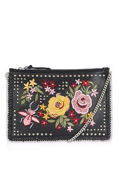 Floral Embroidered Cross Body Bag