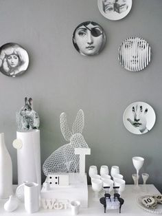 Fornasetti Plates might be the only plates I'd put on my wall. Love them.