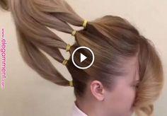 Separó su cabello en 5 secciones para crear algo re almente hermoso! Trending Hairstyles, Latest Hairstyles, Cool Hairstyles, Hairstyle Ideas, Pinterest Hair, Box Braids Hairstyles, Hair Videos, Hair Hacks, Hair Trends