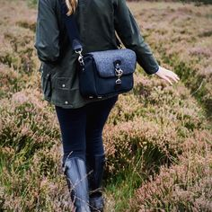 Beautiful morning for a walk on the forest with our small Sloane Street camera bag. Barbour and Hunter wellies in tow.