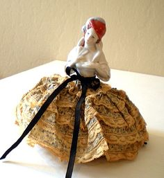 Lovely Old Half Doll Pin Cushion