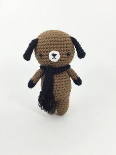 Crocheted Puppy Crochet Doll Crochet Dog Amigurumi by MossyMaze