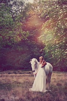 Just like a fairytale.. White horse • Equestrian