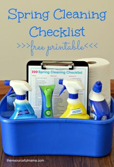 Free printable spring cleaning checklist, detailed room by room cleaning tasks #springintoclean #cbias [ad]