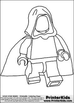 Marvelous Lego Star Wars Blank Young Anakin Skywalker Walking in Cloak Coloring Page