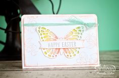 Irresistibly Yours DSP inked behind the butterfly diecut, Indescribable Gift stamp set   Creations by Mercedes