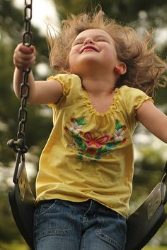 I can still swing and feel like a child again. Swinging makes you feel free and gives you peace!