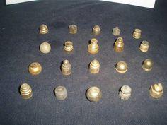 Vintage Lot Of 20 Brass Lamp, Chandelier, Light  Finials pieces
