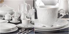 simply about home: Stylizowana zastawa stołowa: przegląd białej porcelany i ceramiki