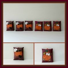 Babies In The Pumpkin Patch Mini Favor Ornaments Set by Linda Walsh