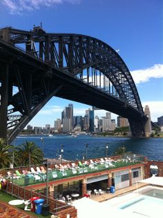 North Sydney Olympic Pool in Milsons Point, Sydney, NSW, Swimming Pools Melbourne, Land Of Oz, Australia Living, School Holidays, Adventure Is Out There, Sydney Harbour Bridge, South Wales, Asia Travel, Homeland