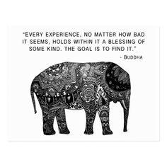 Shop Buddha Henna Wisdom Elephant Postcard created by madelinemargaret. Henna Elephant, Elephant Love, Elephant Tattoos, Buddha Elephant, Small Elephant, Elephant Stuff, Elephant Spirit Animal, Elephant Quotes, Quotes About Elephants