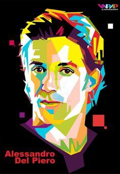 Del Piero in WPAP by ihsanulhakim on DeviantArt