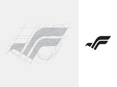 """F"" Letter Logo Design - It's been awhile since I posted a logo grid system. S Logo Design, Brand Identity Design, Bird Design, Branding Design, Corporate Branding, Logo Branding, Cv Inspiration, Logo Design Inspiration, Aquarium Design"