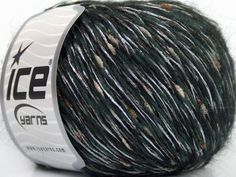 Fiber Content 30% Viscose 28% Acrylic 25% Mohair 2% Paillette 15% Wool White Brand Ice Yarns Grey Green fnt2-44056