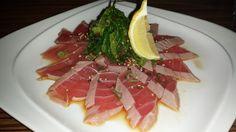 Tuna Sashimi appetizer at Sushi Yama with Carolyn Boinis Boca Raton Real Estate Agent www.CarolynBoinis.com