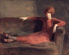 Guy Pène du Bois, Woman on Sofa