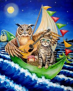Diamond embroidery cartoon for children owl cat diamond mosaic Pictures of crystals mosaic pictures Painting rhinestones hobi Cross Paintings, Paintings For Sale, Owl Paintings, Boat Cartoon, Owl Cat, Mosaic Pictures, The Pussycat, Dot Painting, Love Is Sweet