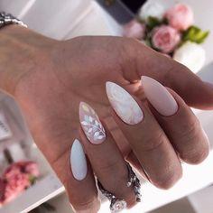 wedding nails \ wedding nails for bride . wedding nails for bride acrylic . wedding nails for bride classy . wedding nails for bride gel . wedding nails for bride bridal Cute Acrylic Nails, Fun Nails, Classy Gel Nails, Classy Nail Art, Classy Nail Designs, Nail Designs Spring, Simple Nails, Glitter Nails, Water Nails