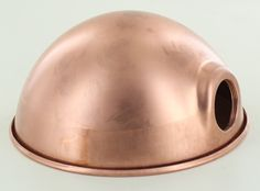 UNFINISHED COPPER PARABOLIC SHADE WITH UNO SOCKET THREAD - 6-1/2 inch DIAMETER AND 3-1/3 inch DEEP