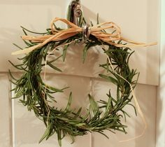 The Charm of Home rosemary wreath