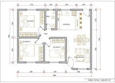 Modelos De Plantas De Casa 3 Quartos: #modelosdecasas