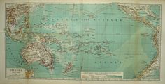 1894 Antique map of the OCEANIA. PACIFIC by AntiquePrintsOnly, $16.50