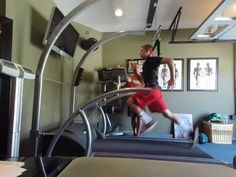 The video and associated still images depict one of our clients demonstrating a 10 second interval at 20 miles per hour.  The harness is only there for protection, he is no being unweighted.  His initial peak speed was 16 mph, only sustainable for a few strides. After his 3rd training, with improved knowledge and motor skills, his peak speed is now 22.5 mph with the ability to perform repeated 10 second  intervals at 19.5+ mph. We anticipate peak speed of over 25 mph with sustained repeats…