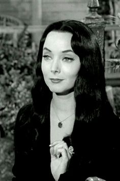 "~ † Carolyn Jones As Morticia Addams † In The 1960"" s Addams Family †"