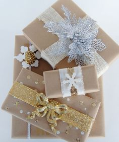 Wrapping with Brown Kraft Paper