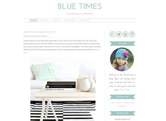 Wordpress Template - Blue Times by Theme Fashion on Creative Market