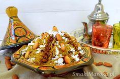 Seffa - makaron vermicelli z rodzynkami po marokańsku