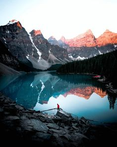 Moraine Lake, Canada   Sunrise   Travel   Photography   Canon   Mountains