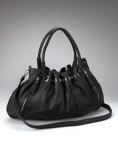 Take a look at this Black Gathered Satchel by Huntley on #zulily today!