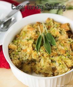 Turkey stuffing - very similar to my mom's family's recipe...but we don't use an egg.