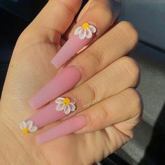 Manicure At Home- 50 Matte Coffin Nails Style Simple Acrylic Nails, Matte Acrylic Nails, Summer Acrylic Nails, Summer Nails, Pink Summer, Acrylic Art, Spring Nails, Coffin Nails Matte, Gel Nails