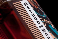 The Midleton Distillery have introduced a new range of premium whiskeys called Method and Madness. The brand identity was designed by studio M&E Pernod Ricard, Whiskey Brands, Master Of Malt, Branding, Foil Stamping, Bottle Design, Identity Design, Brand Identity, Packaging Design Inspiration