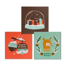 Hip gespot op Indie-ish - Deze mooie ansichtkaarten uit de serie 'Snow folk' zijn ontworpen door Darling Clementine. Erg leuk om je kerstwens naar een speciaal iemand...