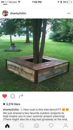 Wonders of Pallet Wood reclaim-pallets-tree-bench-design-ideas-recycle-wooden-pallets-project-plans-and-tips The post Wonders of Pallet Wood appeared first on Pallet Diy. Outdoor Furniture Plans, Wooden Pallet Furniture, Wood Pallets, Pallet Wood, Woodworking Furniture, Antique Furniture, Tree Furniture, Woodworking Projects, Tree Seat
