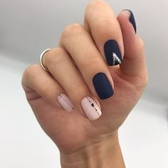 50 Elegant Nail Art Designs For Women 2019 - Page 31 of 50 - Chic Hostess Shellac Nails, Pedicure Nails, Matte Nails, Manicure Ideas, Classy Nails, Stylish Nails, Trendy Nails, Elegant Nail Art, Minimalist Nails