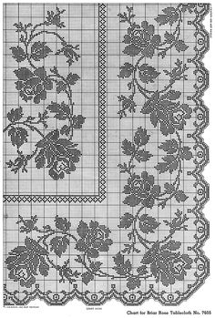25 Handy Beginner Floral Embroidery Patterns,My favorite Floral Embroidery Ideas One of part from 47 Beginner Floral Embroidery Patterns Ideas Printable. You can Find another Pattern by visit my . Crochet Tablecloth Pattern, Crochet Curtains, Crochet Doily Patterns, Crochet Doilies, Filet Crochet Charts, Crochet Cross, Thread Crochet, Crochet Stitches, Cross Stitch Rose
