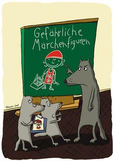 Rotkäppchen lügt im Märchen. NABU Wolf-Projekt. www.willkommen-wolf.de